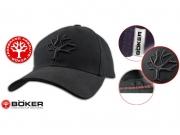 Czapka baseballowa Boker, cała czarna